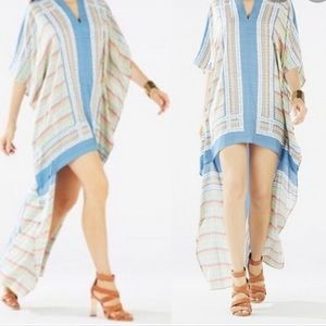 BCBGMaxazria Dameka Hi Low Caftan Dress